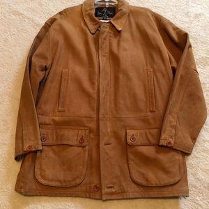 Men's leather coat.